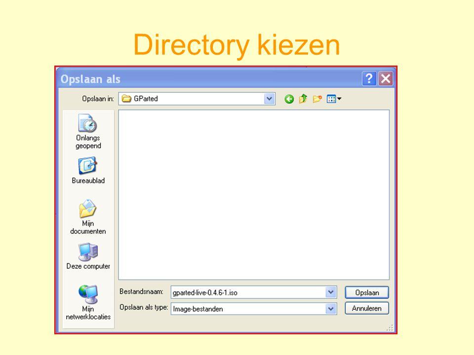 Directory kiezen
