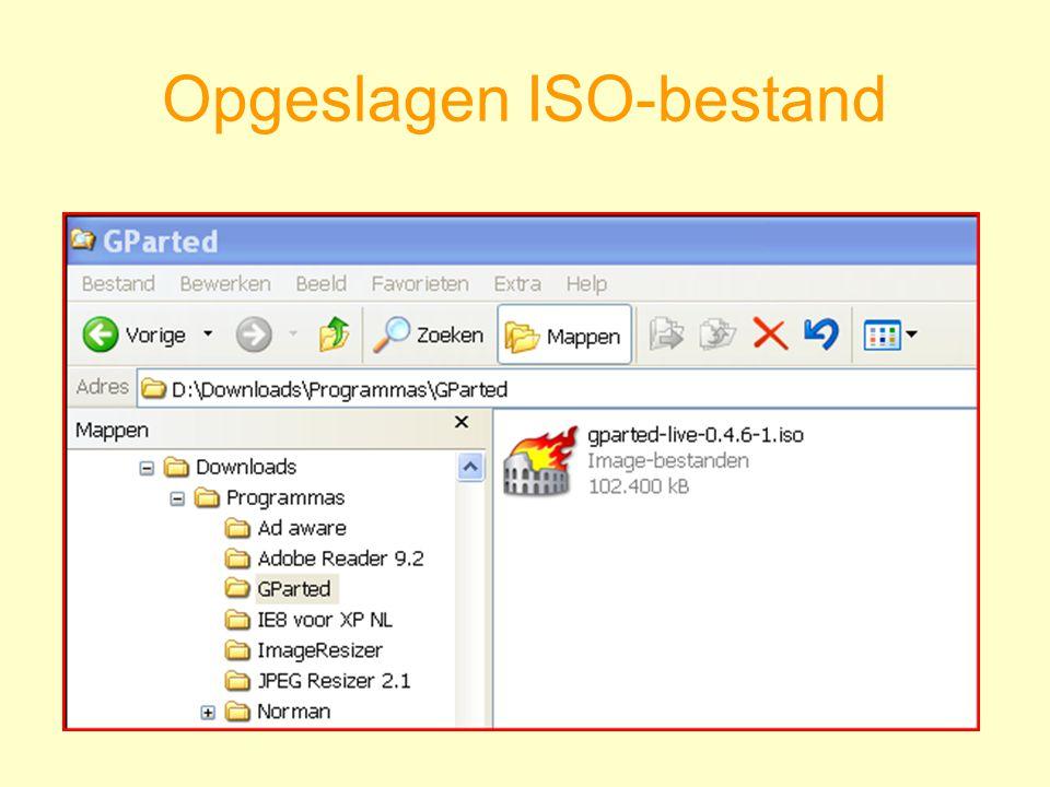 Opgeslagen ISO-bestand