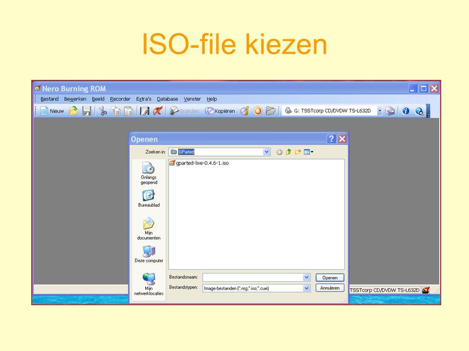 ISO-file kiezen