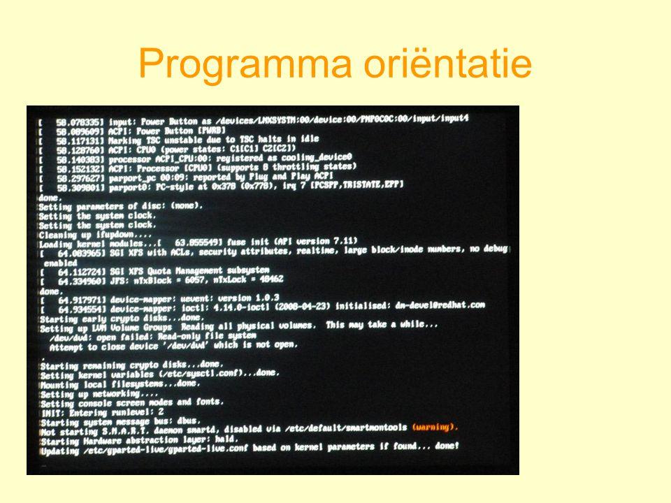 Programma oriëntatie