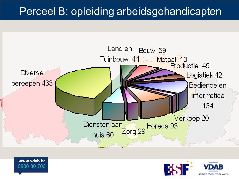 www.vdab.be 0800 30 700 www.vdab.be 0800 30 700 1.870 1.169 of 62,5 % 5.840.332,1 € Te starten opleidingen: Uitstroom-engagement: Prijs per jaar: Perceel D: opleidingen andere kansengroepen