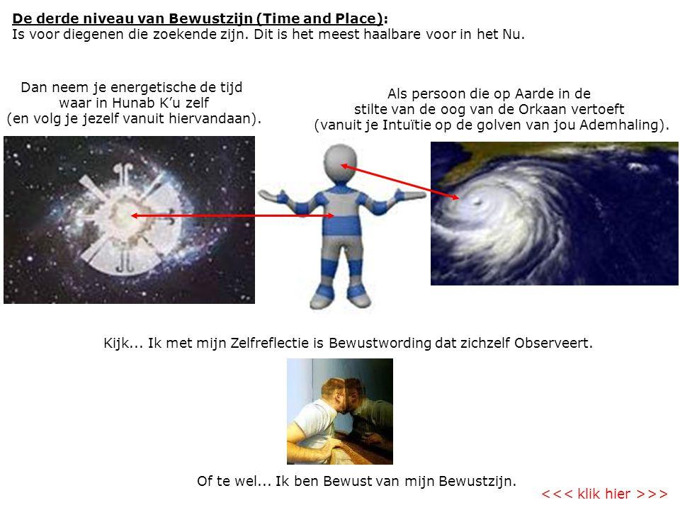 De derde niveau van Bewustzijn (Time and Place): Is voor diegenen die zoekende zijn.