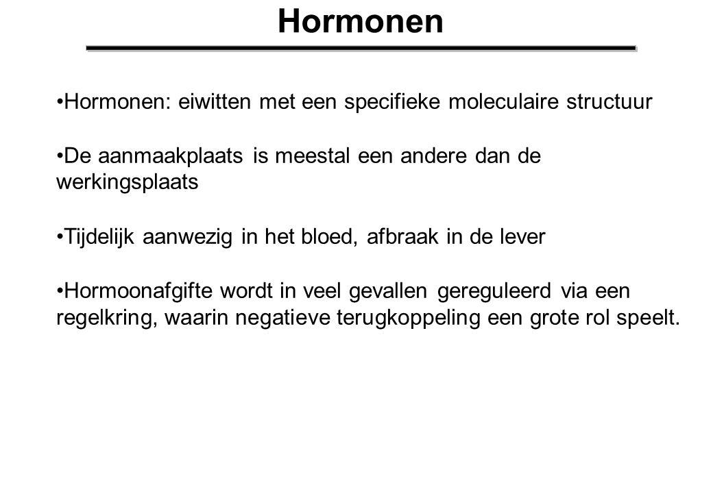 Bijnieren Het bijniermerg staat onder controle van het autonome (sympathische) zenuwstelsel en kan zeer snel hormonen loslaten Adrenaline: actie hormoon ( RR omhoog, hartfreq.