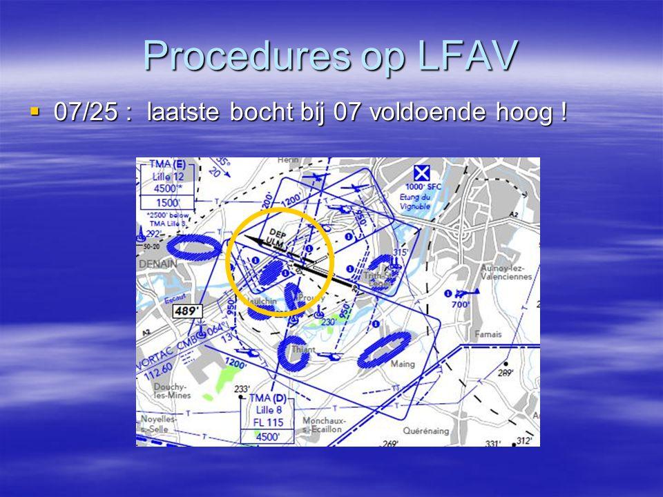 Procedures op LFAV  07/25 : laatste bocht bij 07 voldoende hoog !