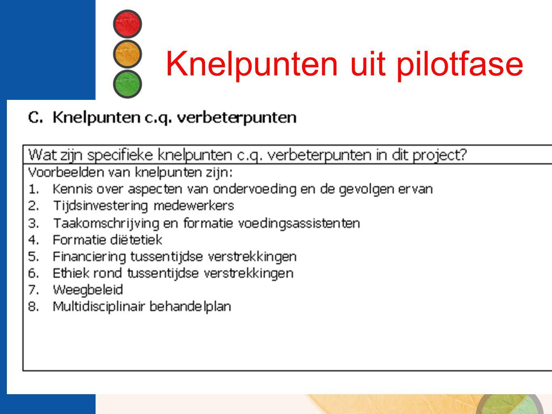 Knelpunten uit pilotfase
