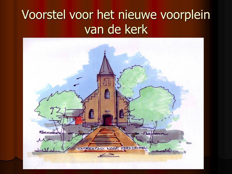 Voorstel voor het nieuwe voorplein van de kerk