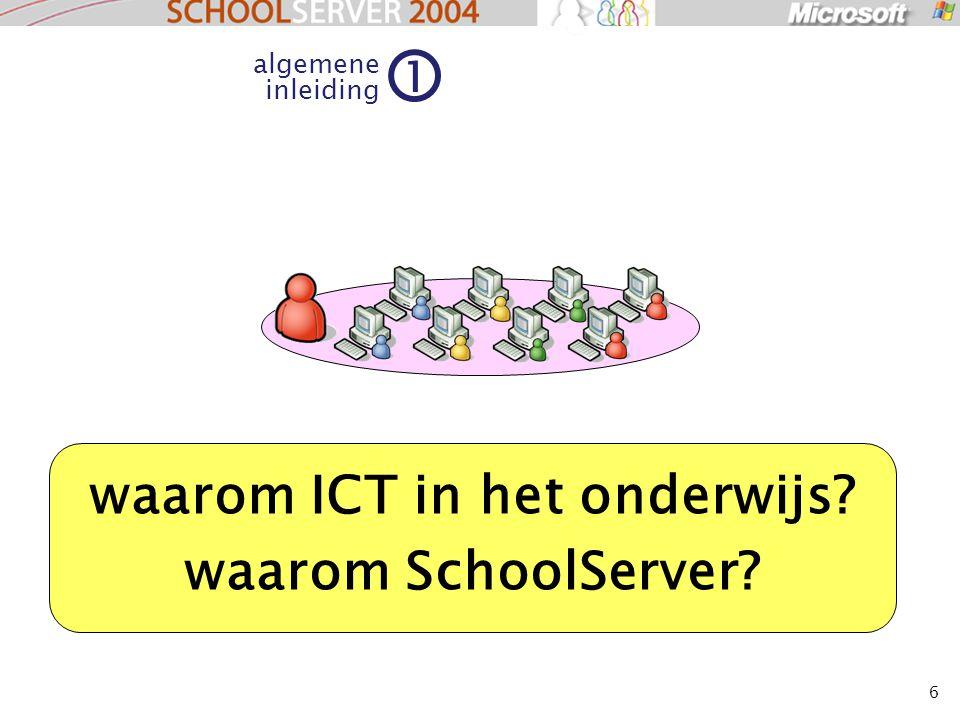 6 algemene inleiding 1 waarom ICT in het onderwijs? waarom SchoolServer?