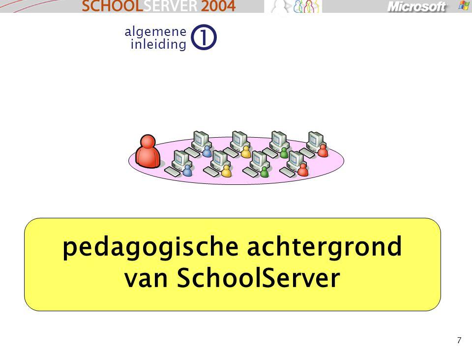 7 algemene inleiding 1 pedagogische achtergrond van SchoolServer