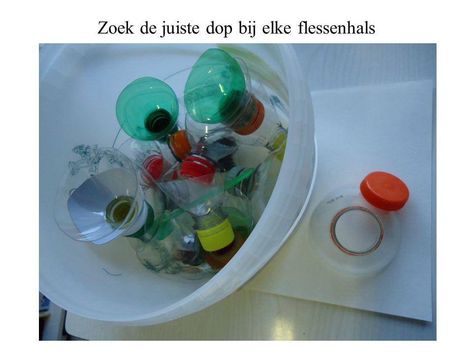 Zoek de juiste dop bij elke flessenhals