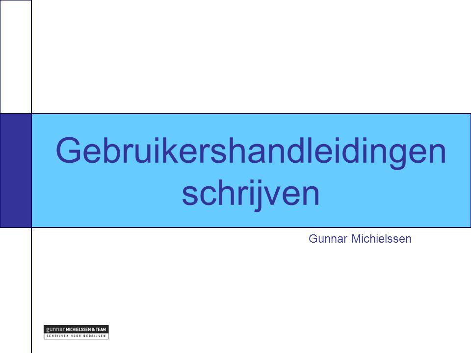 Winnende offertes Gunnar Michielssen Gebruikershandleidingen schrijven
