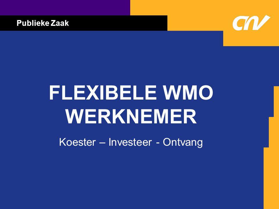Publieke Zaak FLEXIBELE WMO WERKNEMER Koester – Investeer - Ontvang