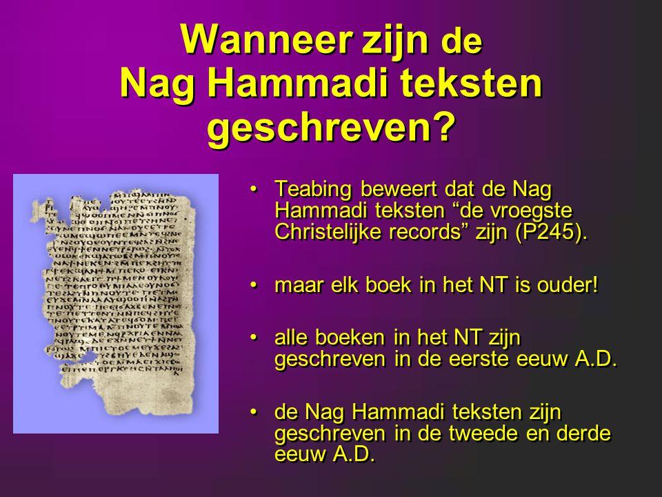 Wanneer zijn de Nag Hammadi teksten geschreven.