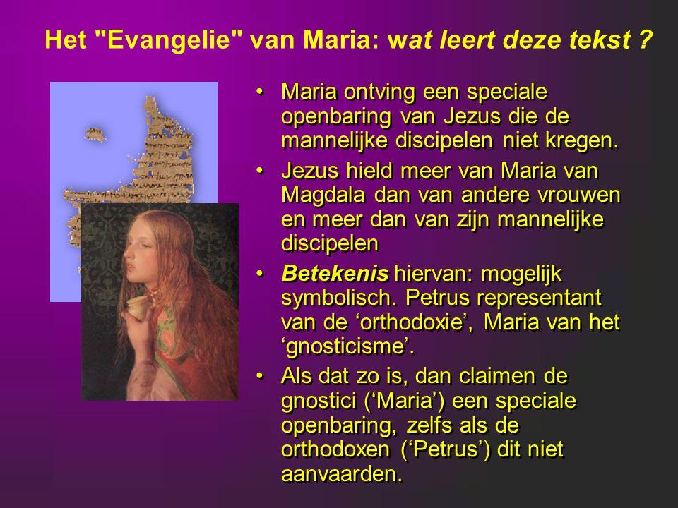 Maria ontving een speciale openbaring van Jezus die de mannelijke discipelen niet kregen.