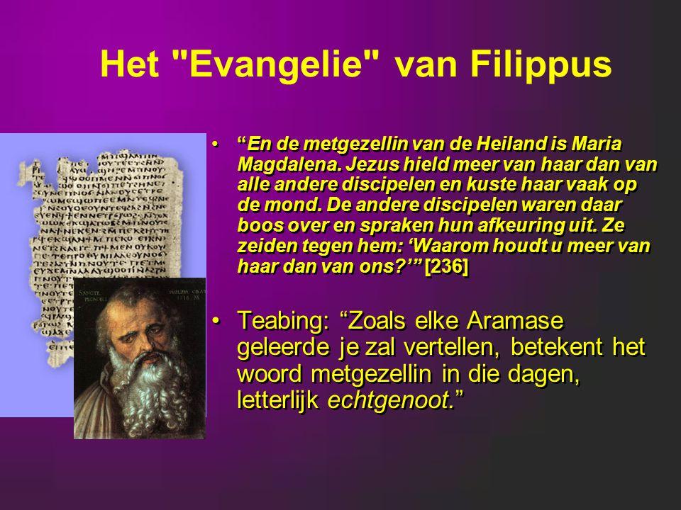En de metgezellin van de Heiland is Maria Magdalena.