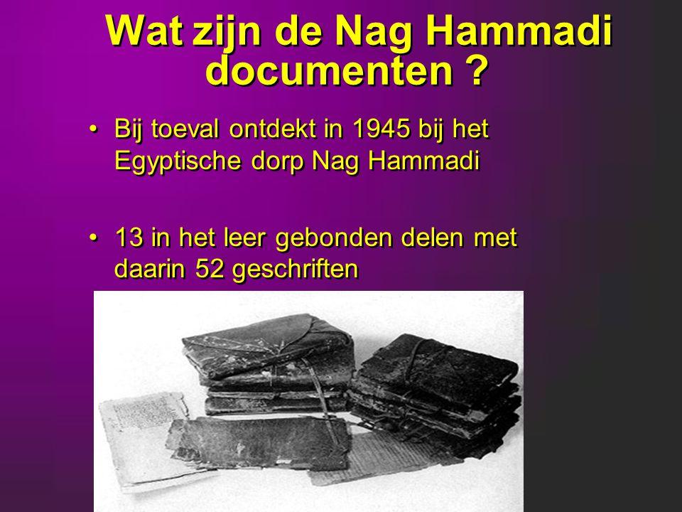 Wat zijn de Nag Hammadi documenten .