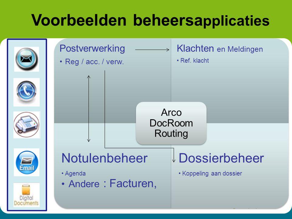16 Postverwerking Reg / acc./ verw. Klachten en Meldingen Ref.