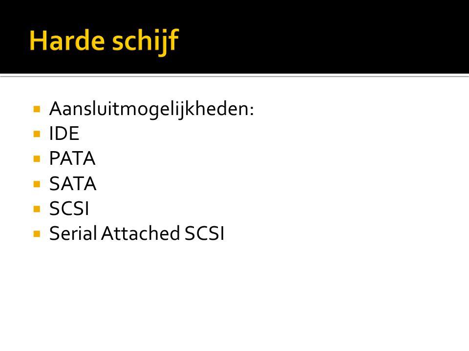  Partitioneren  Voor verschillende O.S.  FAT32, NTFS