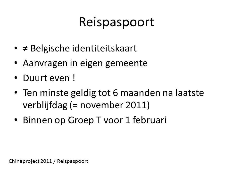 Reispaspoort ≠ Belgische identiteitskaart Aanvragen in eigen gemeente Duurt even .