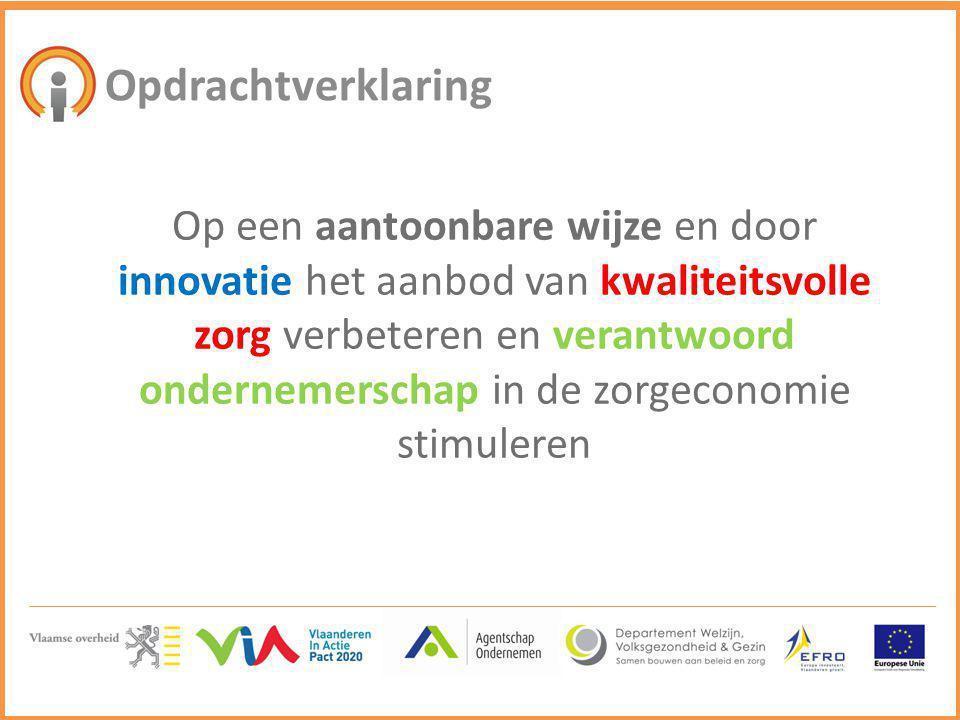 Opdrachtverklaring Op een aantoonbare wijze en door innovatie het aanbod van kwaliteitsvolle zorg verbeteren en verantwoord ondernemerschap in de zorg