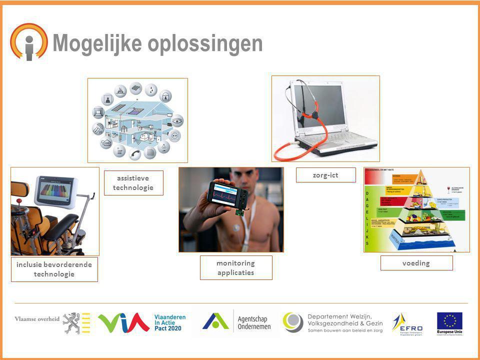 Mogelijke oplossingen inclusie bevorderende technologie assistieve technologie monitoring applicaties zorg-ict voeding