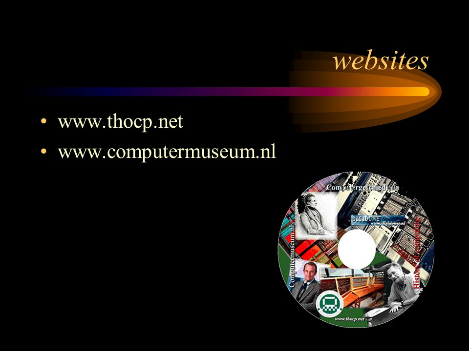 websites www.thocp.net www.computermuseum.nl