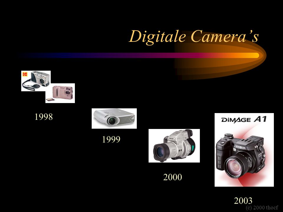 Digitale Camera's (c) 2000 thocf 2003