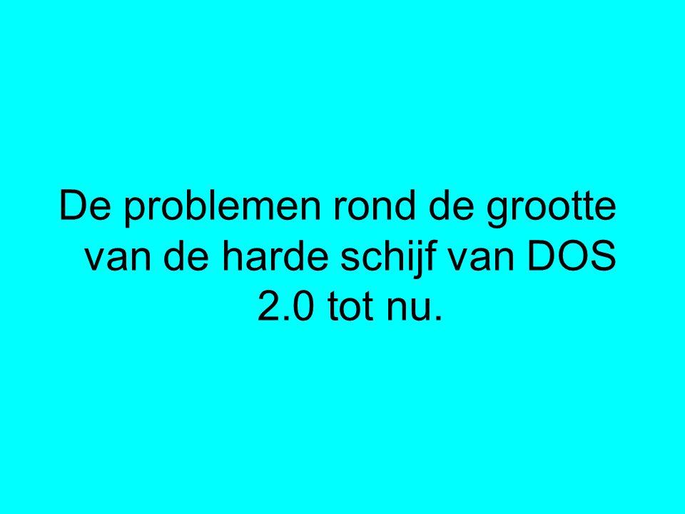 De problemen rond de grootte van de harde schijf van DOS 2.0 tot nu.