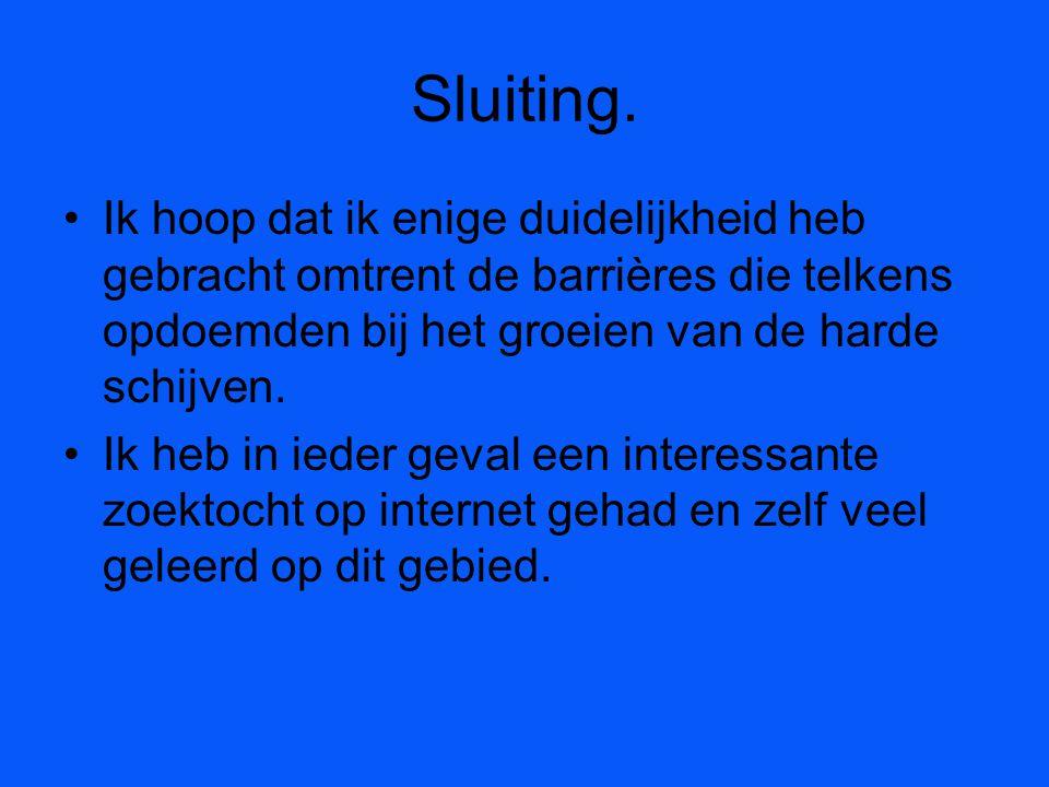 Sluiting.