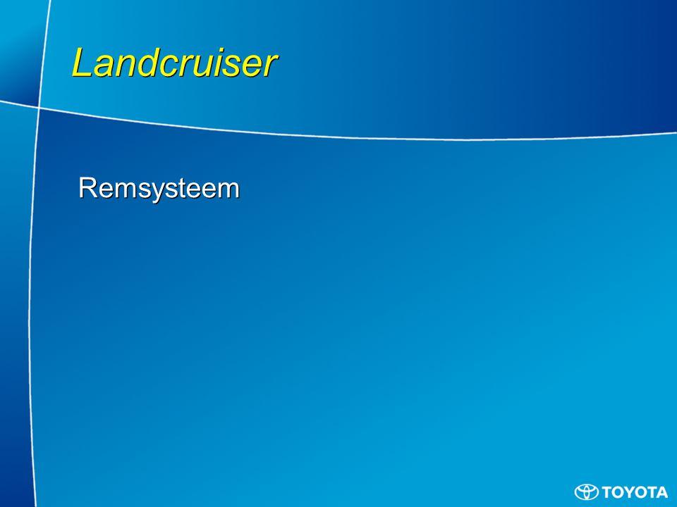 Landcruiser Remsysteem
