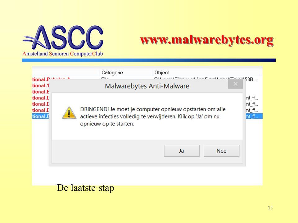 15 De laatste stap www.malwarebytes.org
