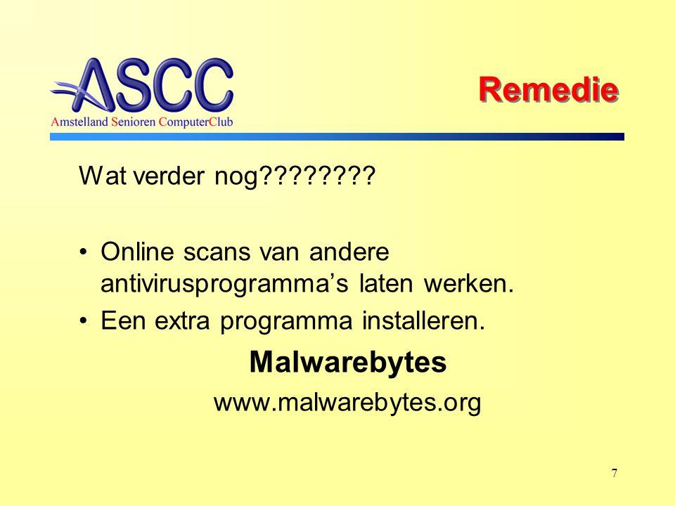 7 Remedie Wat verder nog . Online scans van andere antivirusprogramma's laten werken.