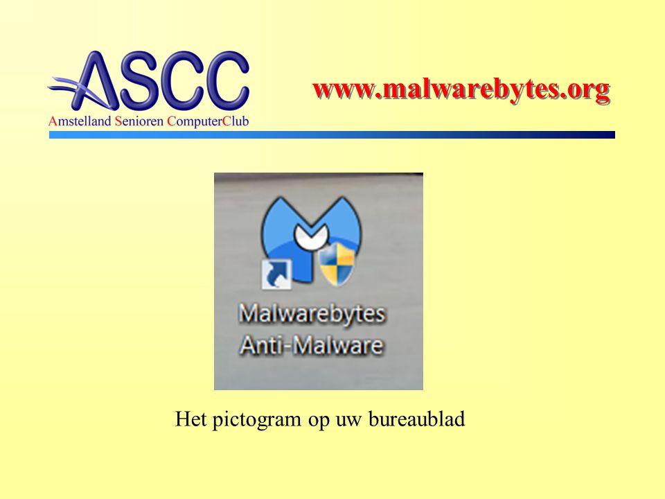 Het pictogram op uw bureaublad www.malwarebytes.org