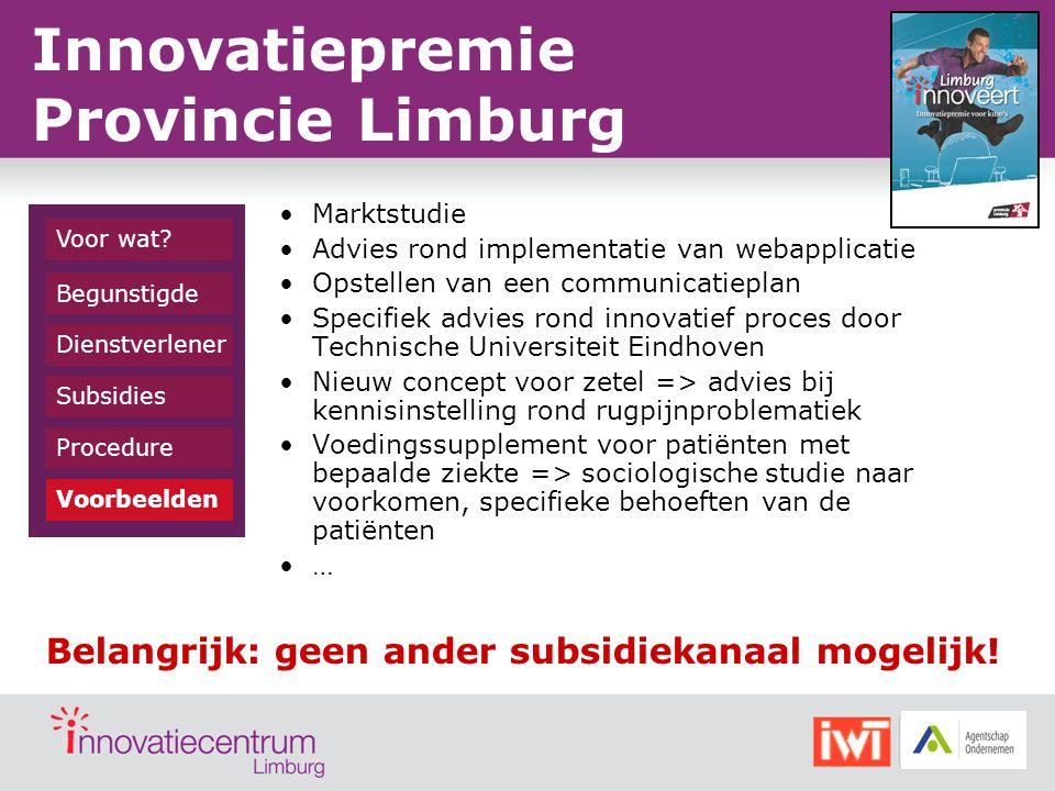 Marktstudie Advies rond implementatie van webapplicatie Opstellen van een communicatieplan Specifiek advies rond innovatief proces door Technische Uni