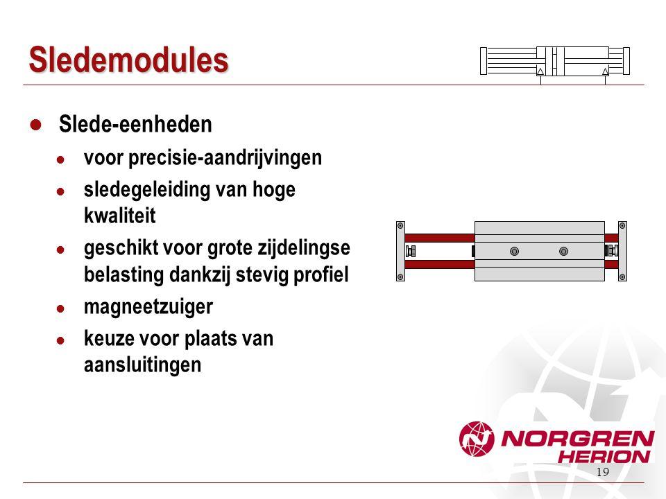 19 Sledemodules Slede-eenheden voor precisie-aandrijvingen sledegeleiding van hoge kwaliteit geschikt voor grote zijdelingse belasting dankzij stevig