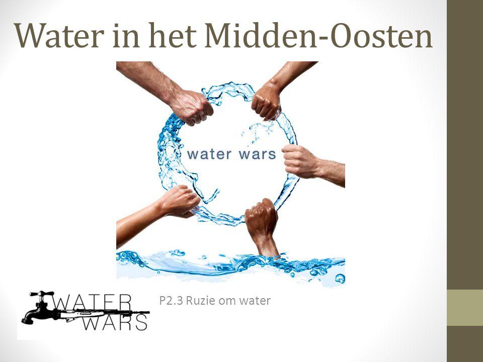 Water in het Midden-Oosten P2.3 Ruzie om water