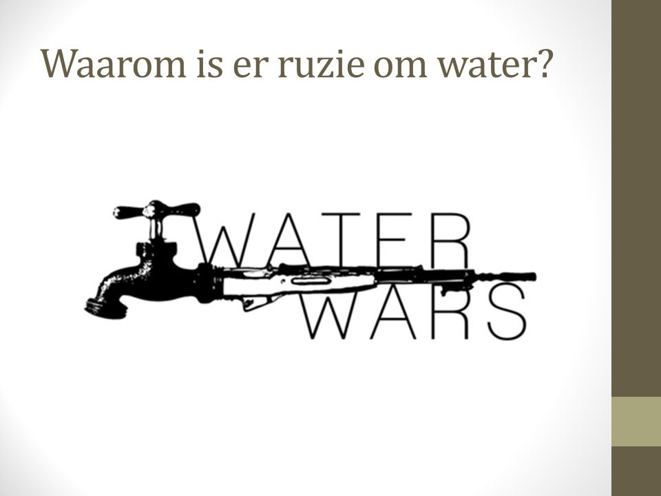 Waarom is er ruzie om water?