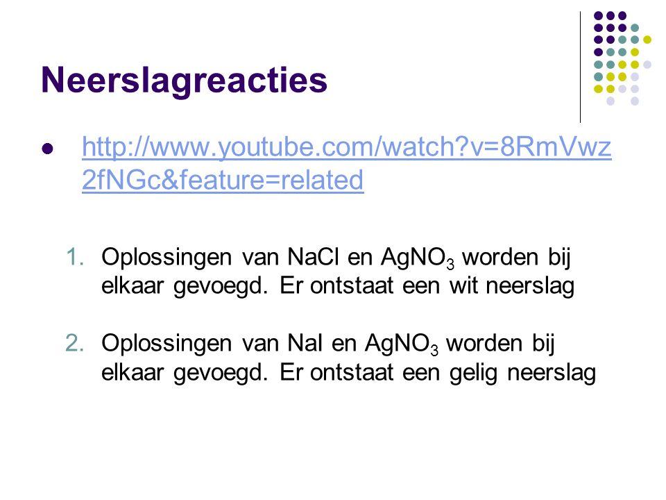 Neerslagreacties http://www.youtube.com/watch?v=8RmVwz 2fNGc&feature=related http://www.youtube.com/watch?v=8RmVwz 2fNGc&feature=related 1.Oplossingen