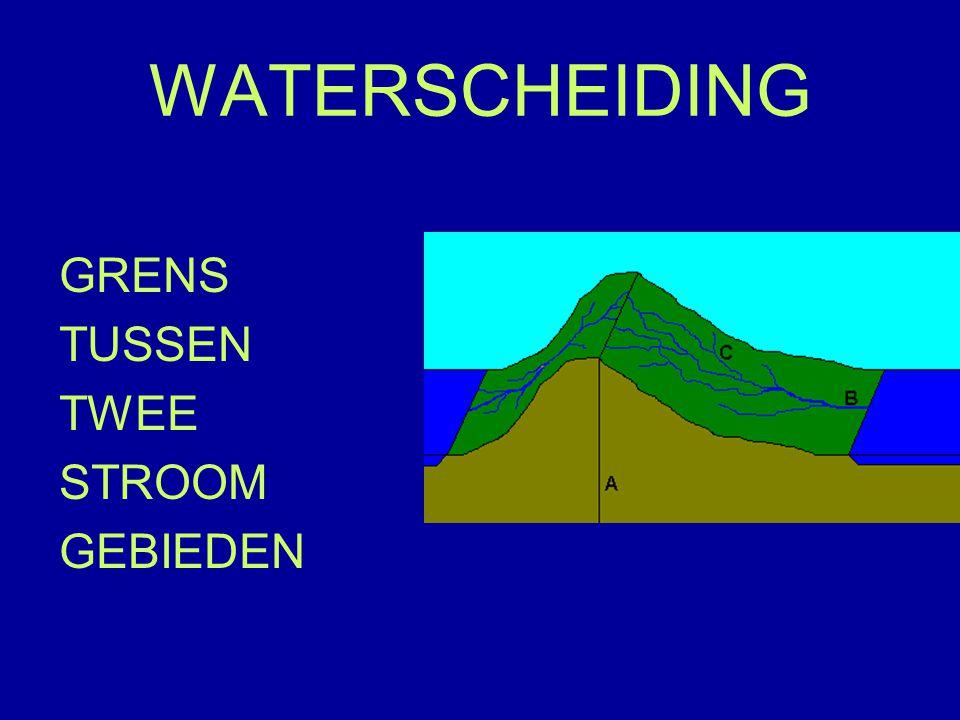 WATERSCHEIDING GRENS TUSSEN TWEE STROOM GEBIEDEN