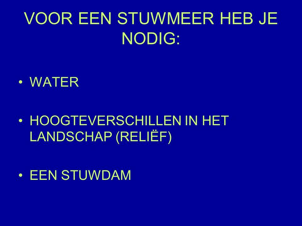 VOOR EEN STUWMEER HEB JE NODIG: WATER HOOGTEVERSCHILLEN IN HET LANDSCHAP (RELIËF) EEN STUWDAM