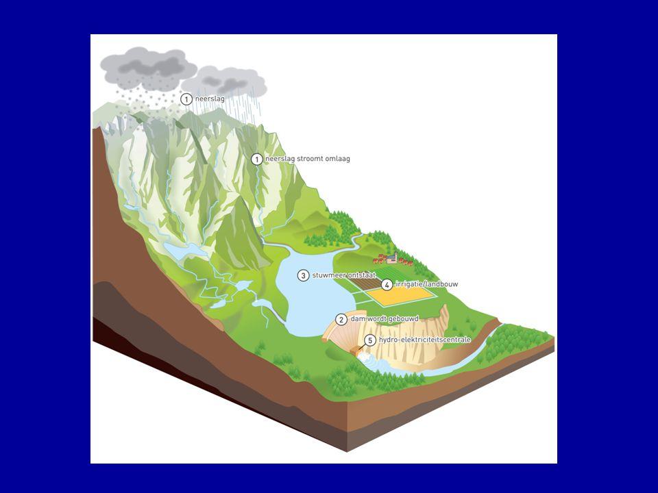 NADELEN BEVOLKING BIJ DE AANLEG VAN STUWMEREN LOOPT EEN BERGDAL OF RIVIERVALLEI VOL WATER: DE OORSPRONKELIJKE BEWONERS MOETEN VERHUIZEN HUN VERTROUWDE LEEFGEBIED GAAT VERLOREN CULTUURSCHATTEN GAAN VERLOREN