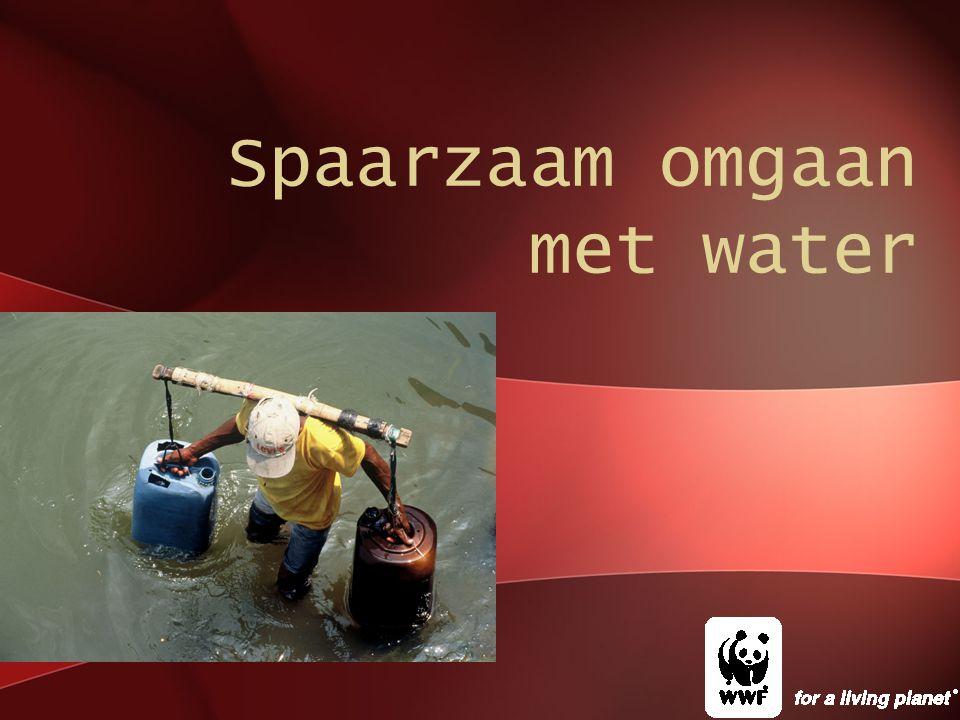 Spaarzaam omgaan met water
