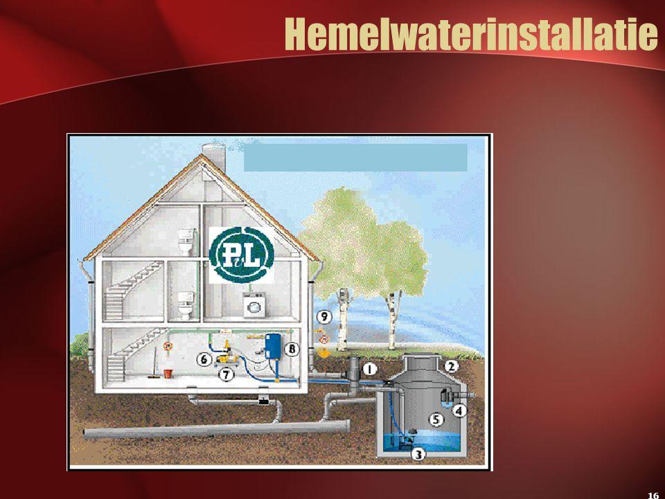 16 Hemelwaterinstallatie