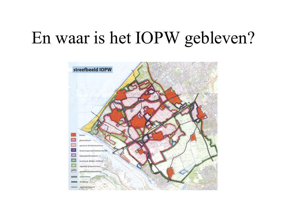 En waar is het IOPW gebleven?