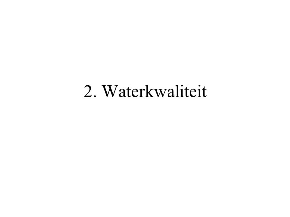2. Waterkwaliteit