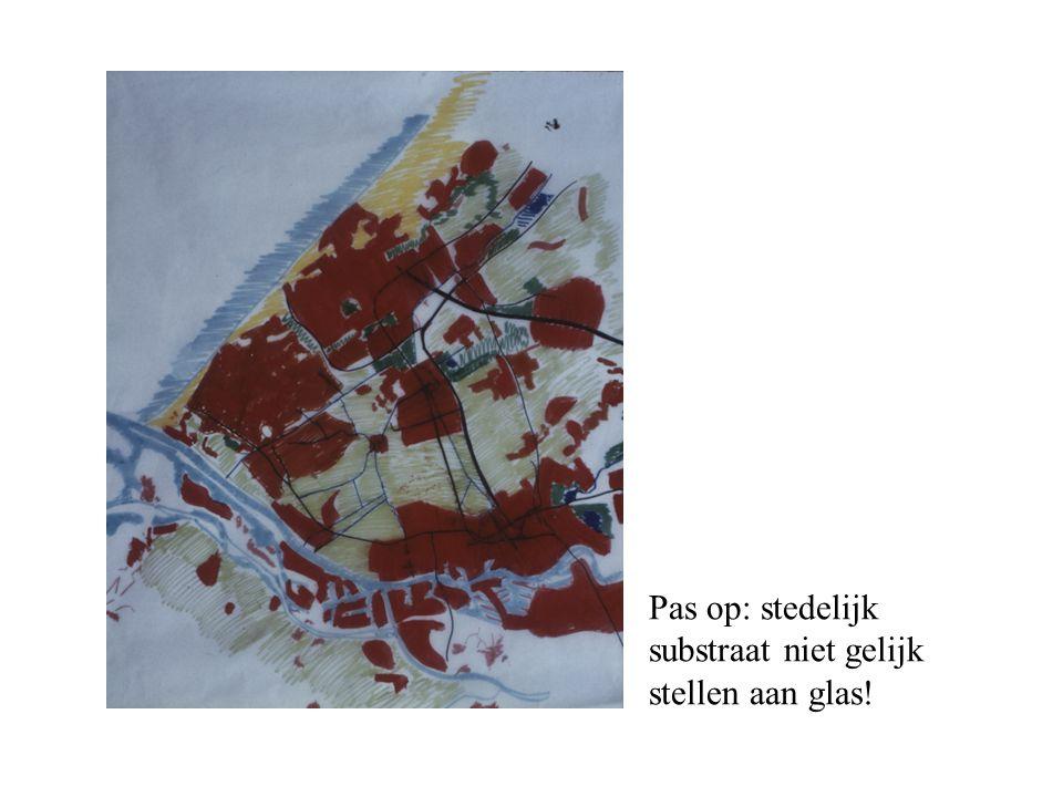 Pas op: stedelijk substraat niet gelijk stellen aan glas!