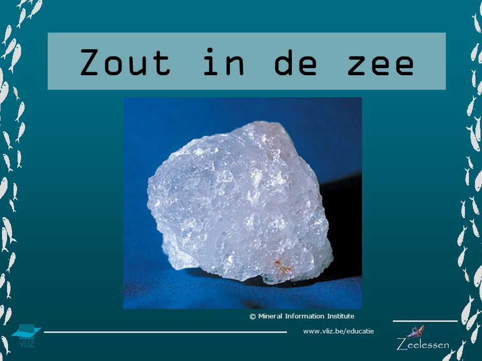 www.vliz.be/educatie Zout in de zee © Mineral Information Institute