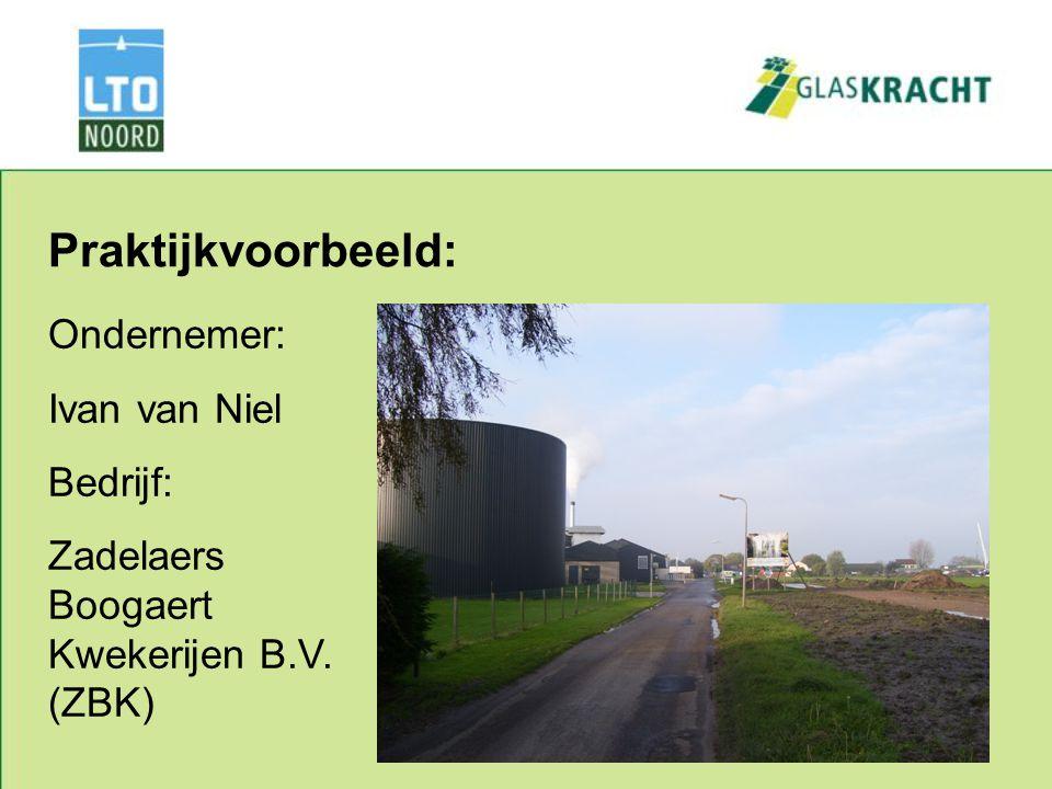 Praktijkvoorbeeld: Ondernemer: Ivan van Niel Bedrijf: Zadelaers Boogaert Kwekerijen B.V. (ZBK)