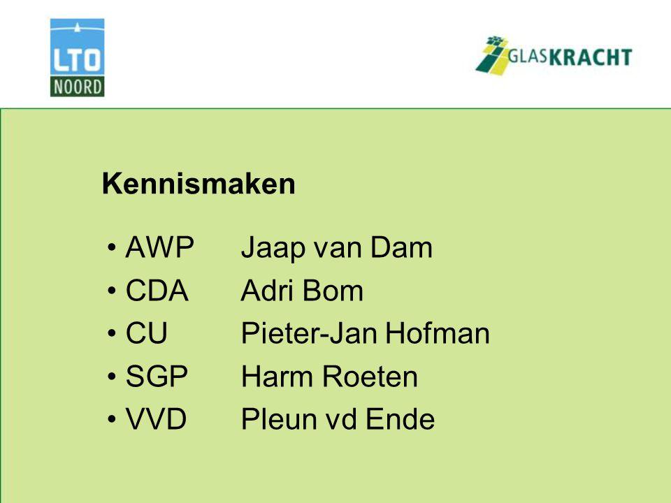 Kennismaken AWPJaap van Dam CDAAdri Bom CUPieter-Jan Hofman SGPHarm Roeten VVDPleun vd Ende