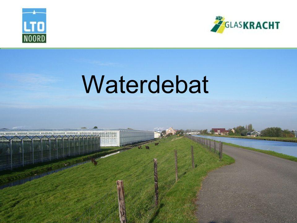 Thema's waterdebat Kosten nieuwe bergingsnorm Innovatieve waterberging Administratieve lasten Kaderrichtlijn water