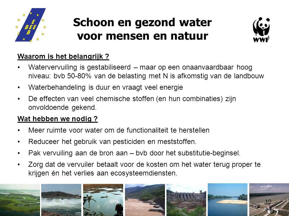 10 Schoon en gezond water voor mensen en natuur Waarom is het belangrijk .